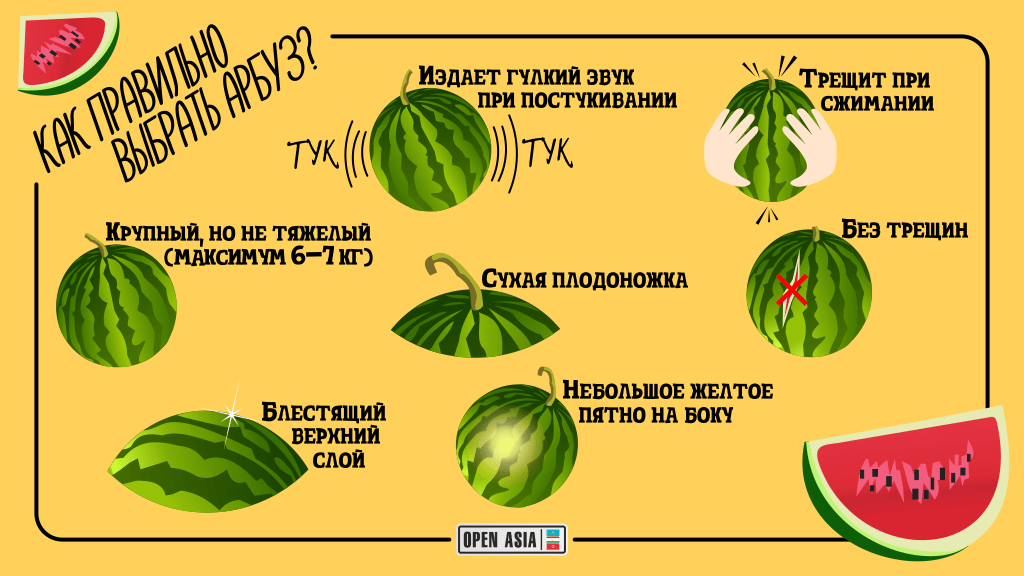 правильно выбрать арбуз - How to choose a watermelon