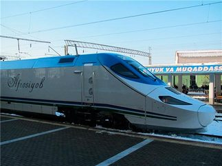 "2584 1 - High-speed train ""Afrasiyob"""