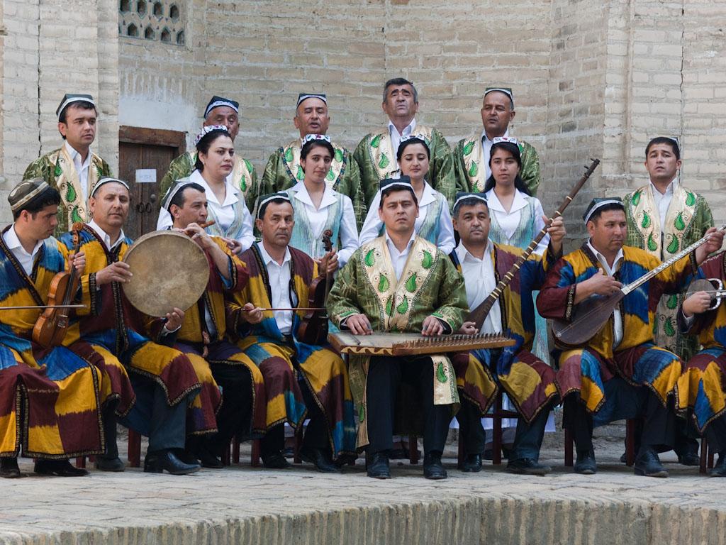 bukhara uzbekistan q uzbekistan musicians in traditional dress - Music