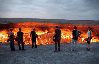 A journey to the gas crater, Turkmenistan