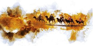 6 croped - Trekking in Turkmenistan/ in Karakum Desert